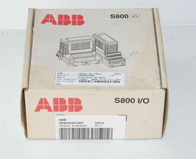 ABB 3BSE008516R1 8Ch Analog Input Relay AI810 *FACTORY SEALED*