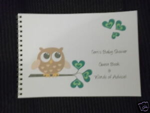 baby shower new baby message advice guest book guess game