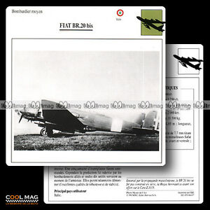 064-07-FIAT-BR-20-BIS-Bombardier-Fiche-Avion-Airplane-Card
