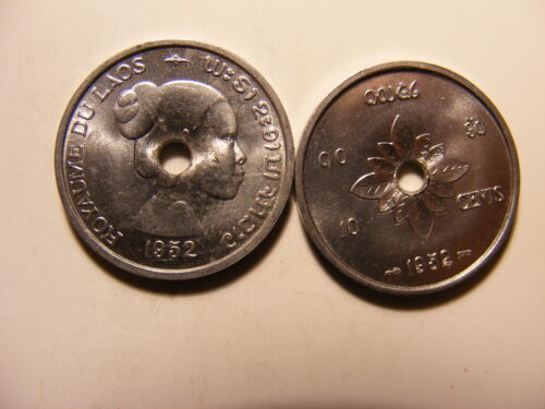 Laos 10 Cents Uncirculated 1952