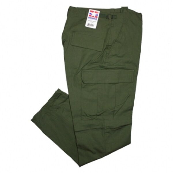 US PROPPER Army BDU Military Pants Pantaloni MILIT Pant Twill Verde Oliva verde Medium regular