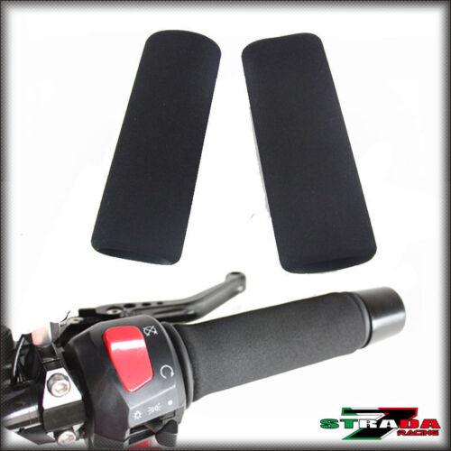 Strada 7 Motorcycle Comfort Grip Covers for Honda Black Spirit