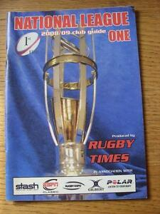 2008-2009-Rugby-Union-National-League-One-Club-Guide-Issued-By-The-Rugby-Times