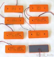 8 Stüke 12V 4 LED Seitenmarkierung Orange Bernstein Lichter für Iveco Mercedes