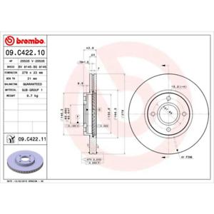COATED DISC LINE Bremsscheibe Brembo 09.C422.11 2 Stück