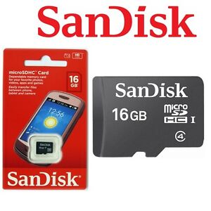 6fa626d18fd Micro SD Card 16GB SanDisk Android Mobile Smart Phone Memory SDHC ...