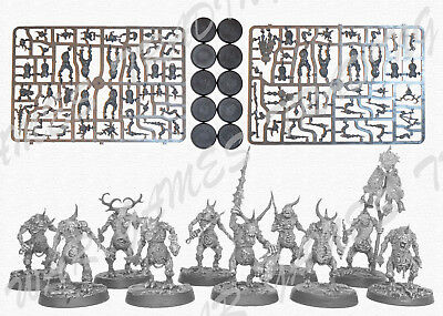 Plaguebearers of Nurgle 10 Warhammer 40K Sigmar Daemons Chaos AoS