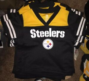reputable site a6424 6b3fa Details about New W/tags NFL Pittsburgh Steelers Jersey Shirt. 2T 3T 4T  Sizes