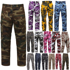 Tactical-BDU-Pants-Camo-Cargo-Uniform-6-Pocket-Camouflage-Military-Army-Fatigues