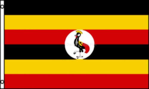 UGANDA International  3x5 Polyester Flag