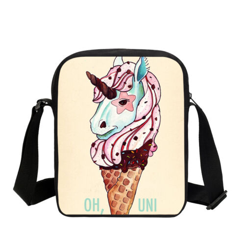 Kids Girls Cute Unicorn Print Small Shoulder Crossbody Bag Horse Sling Purse Bag