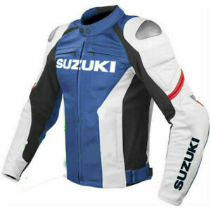 Suzuki Gsxr Blue Motorcycle Leather Jacket Sports Motorbike Leather Jackets