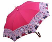 Etro Milano Luxury Paisley Logo Long Umbrella Made In Italy Match W/scarf
