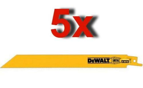 "5 x DEWALT DW4813 RECIPROCATING SAW BLADES 152MM 6"" 24TPI BJR181 DC385 CR18DL"