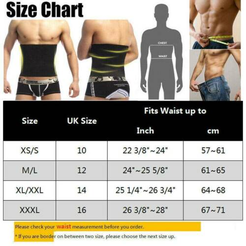 Details about  /Men/'s Compression Belly Belt Weight Loss Tummy Control Waist Trainer Body Shaper