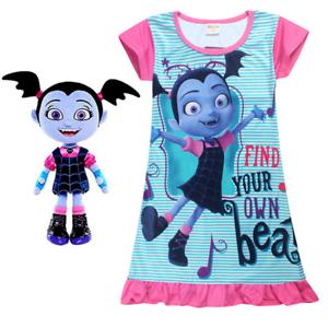33ae5fda0 Image is loading Kids-Vampirina-Cartoon-T-Shirt-Dress-Top-Pyjamas-
