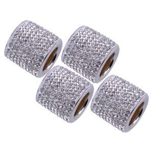 4X Crystal Car Seat Headrest Collar Decor Charms Diamond Interior Accessories