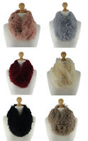 Quality Ladies Super Soft Fleece Fur Reversible Snood Scarf Cowl