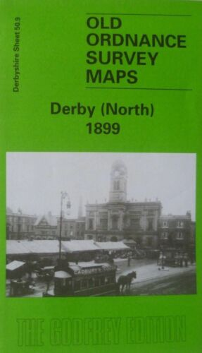 Ordnance Survey Detailed Maps Derby North Derbyshire 1899 Sheet 50.09  New Map
