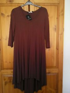 Join Dip Back Small Clothes Tunic Coffee Longline ZZgvqa7wx