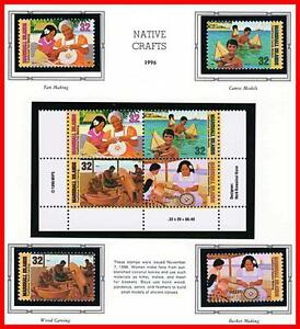 MARSHALL IS. 1996 NATIVE CRAFT mnh SHIPS
