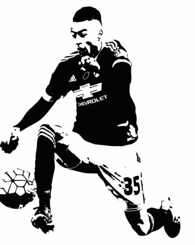 Jesse Lingard English Football Player Decal Wall Art Sticker Picture Poster