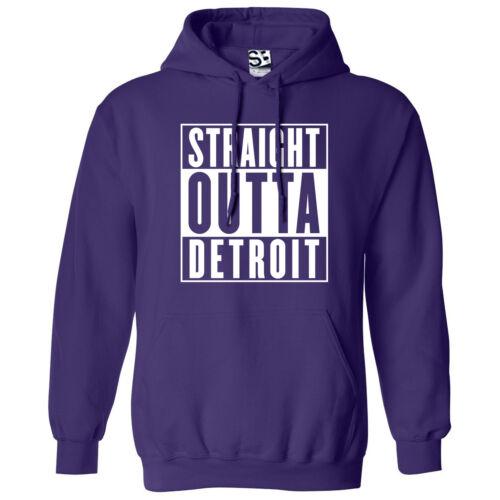 Straight Outta Detroit HOODIE Rep Yo City Hood Movie Parody Hooded Sweatshirt