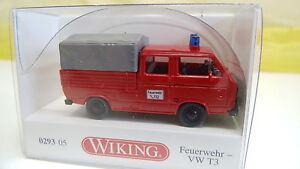 Wiking-h0-1-87-bomberos-VW-t3-doble-cabina-029305-nuevo-en-OVP