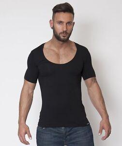 Doreanse-Men-039-s-Cotton-Modal-Scoop-Neck-Tshirt