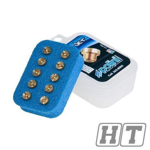 Vergaser Hauptdüsenset Polini 6mm für Dellorto Vergaser 180-198
