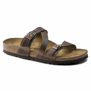 Image is loading Birkenstock-Leather-SALINA-Camberra-Old-Tobacco -BNIB-1009459 48bac1423e