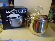 """Vintage 10"""" 1981 Silver Plated Towle Silver Co. Leonard Silver plate Ice Bucket"""