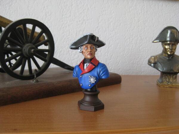 Buste Peint : Frederick Le Grand Prusse 1756 Echelle : 1/10 Amati En Résine