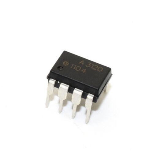 50 Pcs HCPL-3120 DIP-8 HCPL3120 A3120 2A Optocoupler