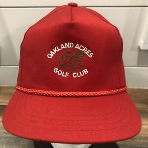 Vtg-80s-90s-Oakland-Acres-Golf-Club-strapback-hat-cap