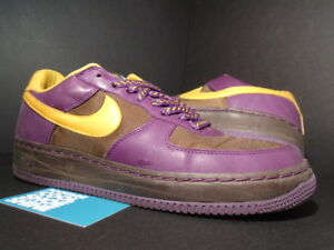 2006 Nike Air Force 1 BROWN Low INSIDEOUT IO BISON BROWN 1 PRO GOLD PURPLE d41b25