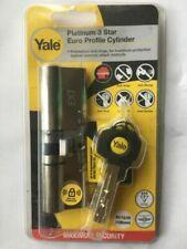 Yale Platinum 3 Star Euro Profile Cylinder silver Nickel 100mm 40//10//50
