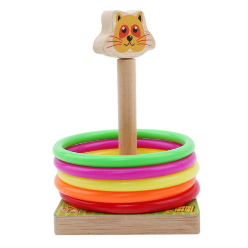 Animals Shape Ring Throwing Game Wooden Toys Quoits Ring Toss Game for Kids LH