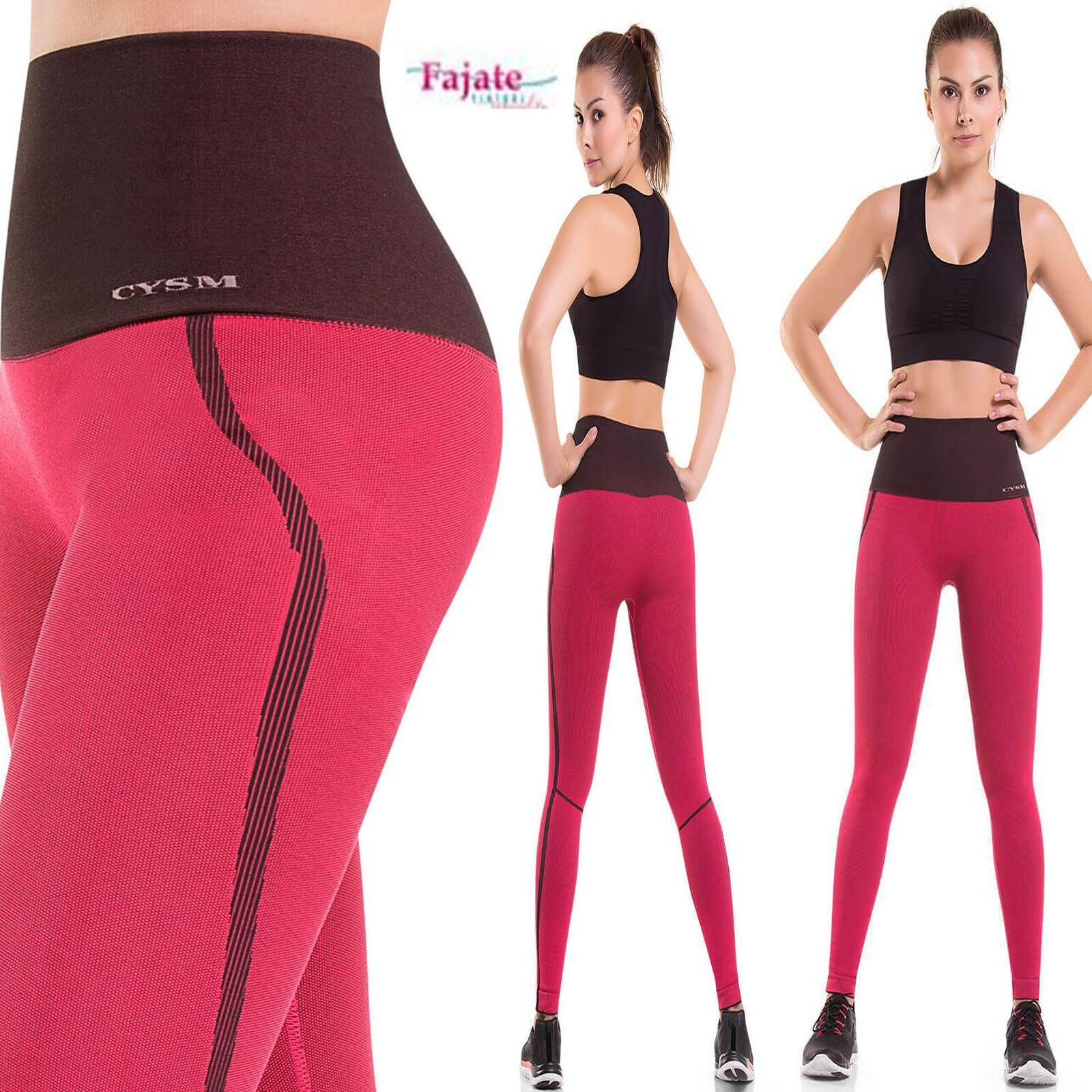 Colombian Sports Compression and Abdomen Control Fit Legging Coral Butt Lifter