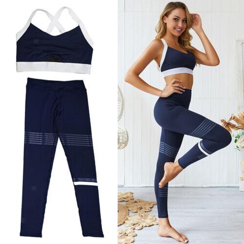 Frauen nahtlose Yoga Anzug Tops Hosen Set Sport Leggings Fitness