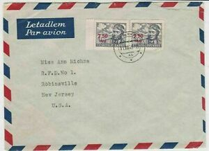 czechoslovakia 1949 airmail stamps cover ref 19661