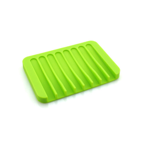 1PC Flexible Silicone Soap Dish Waterfall Soap Tray Soap Saver Holder Drainer
