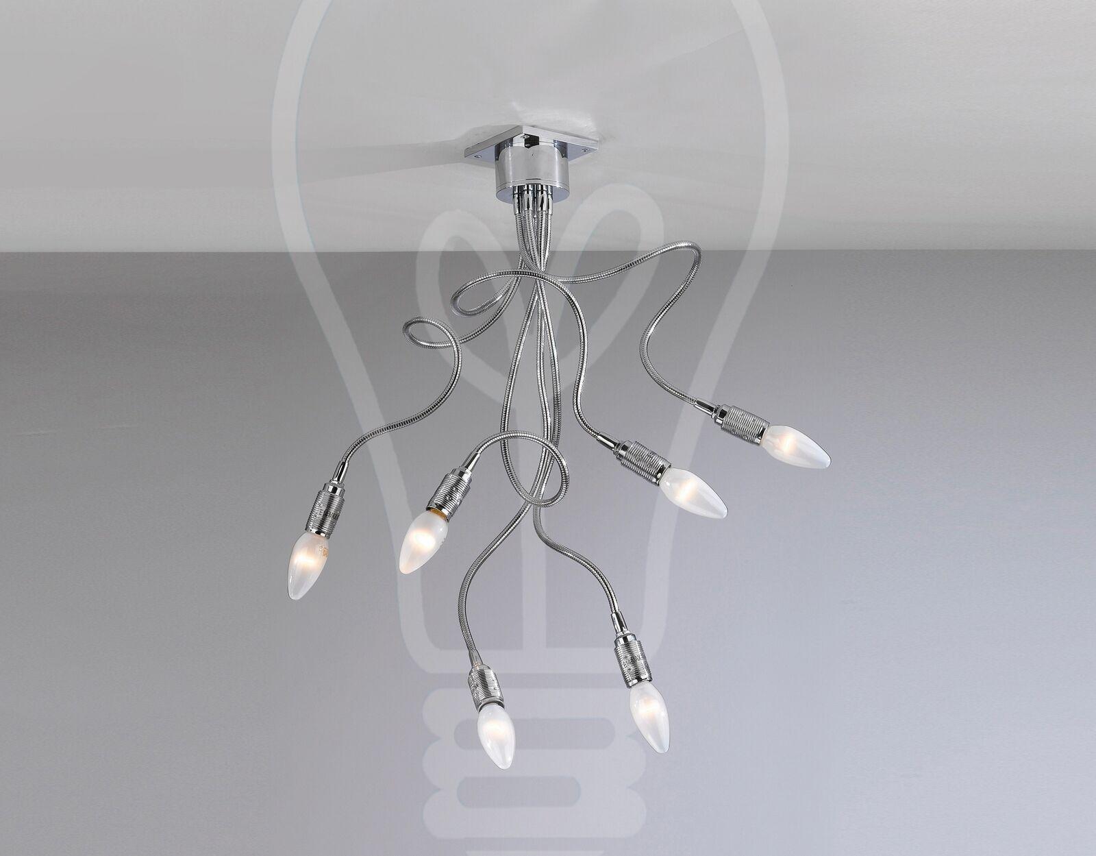 miglior reputazione PLAFONIERA LAMPADA SOFFITTO SOFFITTO SOFFITTO DESIGN ULTRA MODERNO BRACCIA FLESSIBILI BAGNO CUCINA  qualità autentica