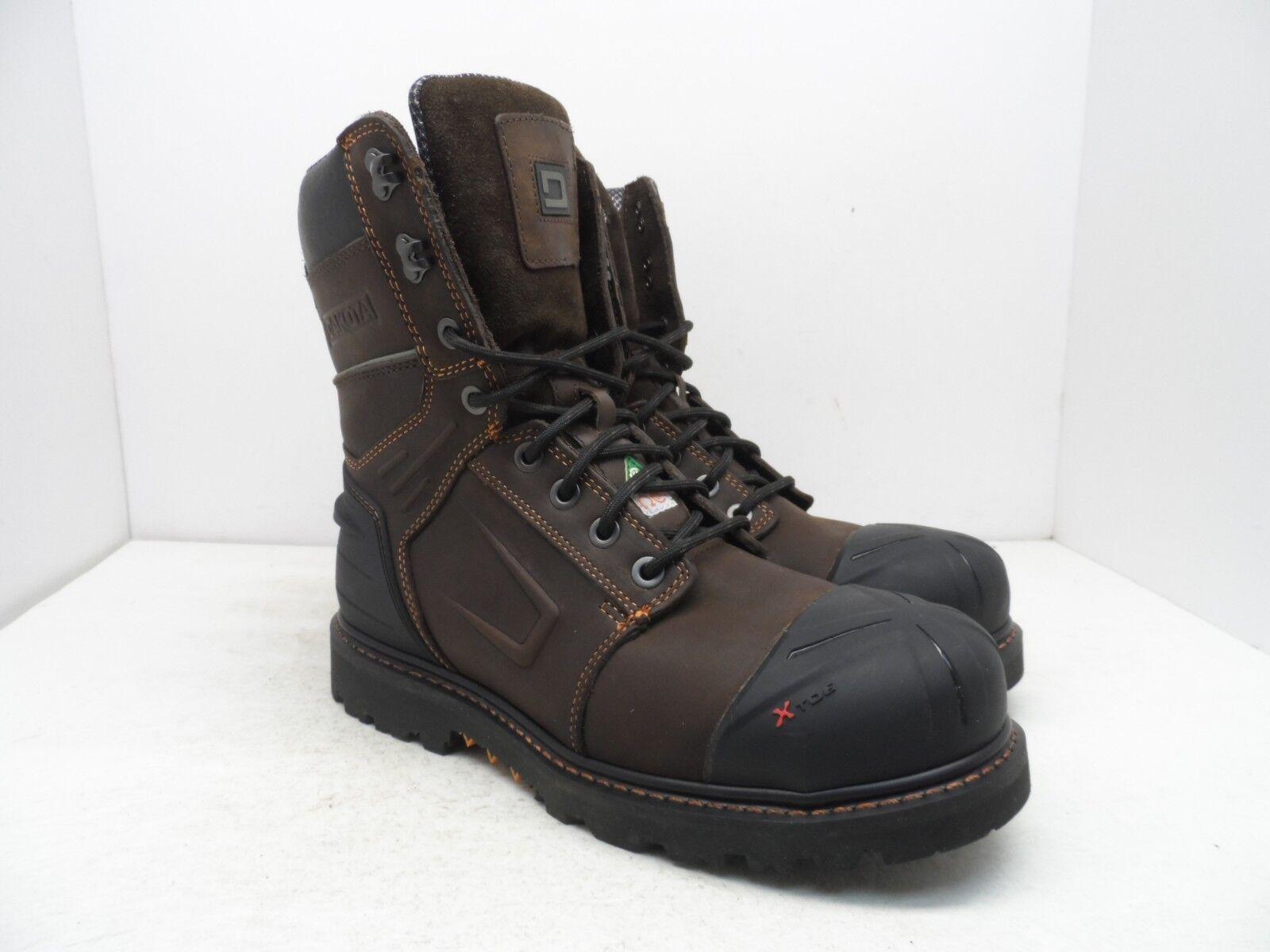 Dakota Men's X-Toe 8  Quad Comfort Steel Toe Composite Plate Boot Brown 10.5M
