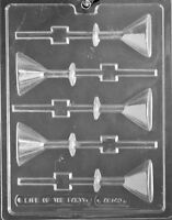 Martini Glass Lollipop Sucker Chocolate Mold Candy Ships Same Day M84