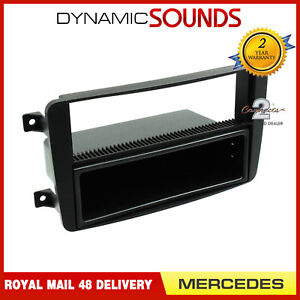 FP-23-01-Car-CD-Radio-Fascia-Panel-Surround-Trim-Black-For-Mercedes-CT24MB01