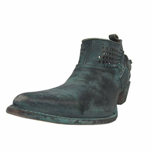 CORRAL Women/'s Distressed Green Shortie Pointed Toe Boots C3051