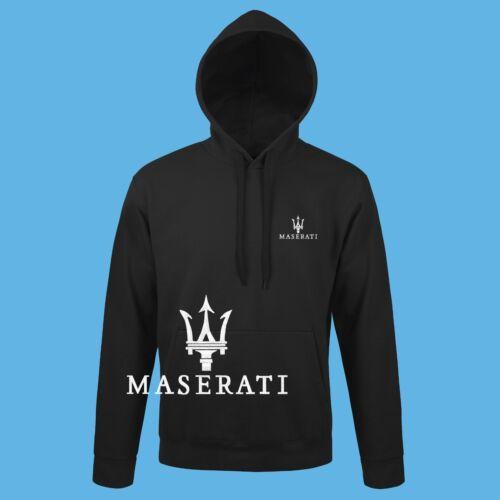 Maserati Kapuzenpullover GESTICKTE Stickerei Auto Logo Herren Hoodie Sweatshirt