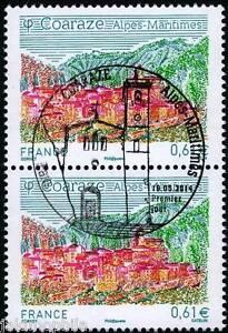 Y-amp-T-4881-2-timbre-Coaraze-de-2014-OBLITERES-1er-jour