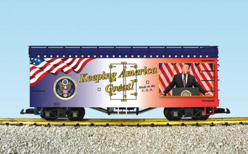 """USA Trains R16037 /"""" Halten America Großartig /"""" Donald Trompete Kühl # 3 in A"""